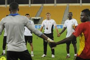 Стеванович с игроками сборной Ганы