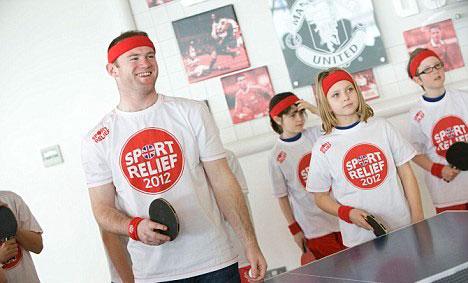 Руни выступает в поддержку Sport-Relief