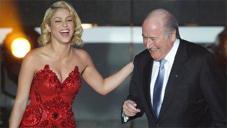 Шакира и Зепп Блаттер