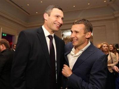 Андрей Шевченко и Виталий Кличко