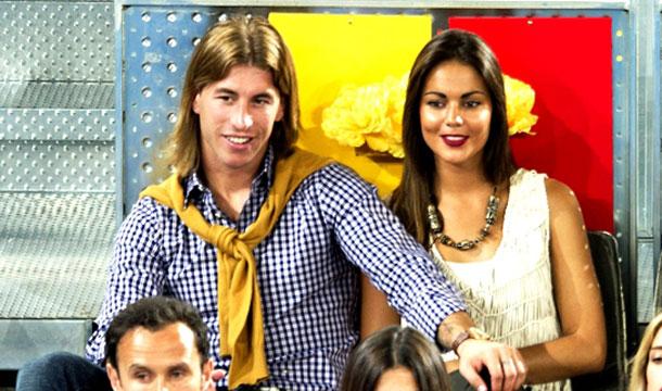 Серхио Рамос и Лара Альварес