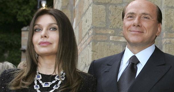Сильвио Берлускони и Вероника Ларио