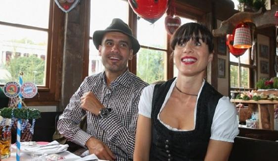 Хосеп Гвардиола и его жена Кристина Серра